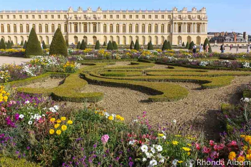 The gardens looking back at the palace of Versailles