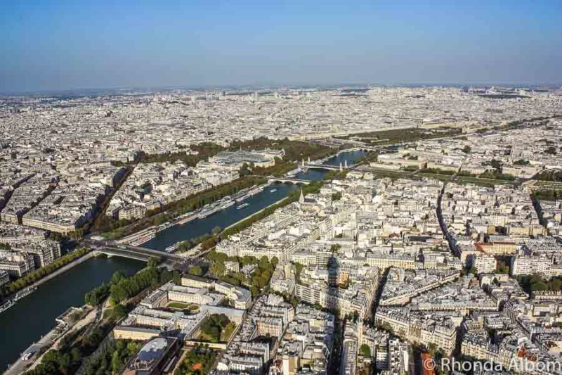 View from the top of the Eiffel Tower in Paris France