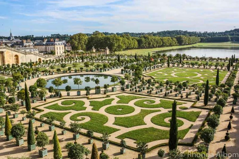 The gardens of the Palace of Versailles just outside of Paris France