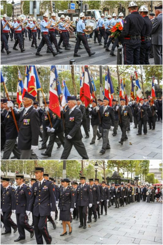 Annual Parade to honour the Paris Firemen