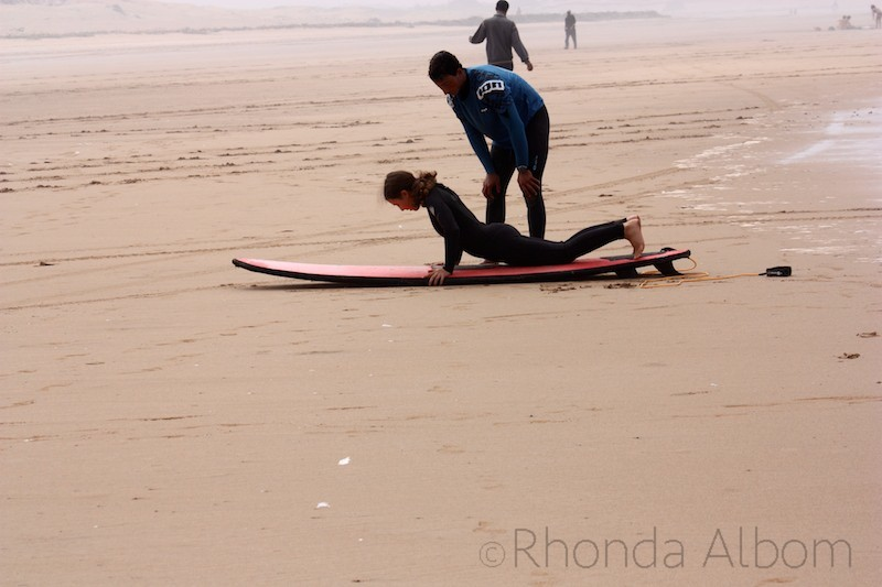 Surfing lessons on Essaouira Beach Morocco