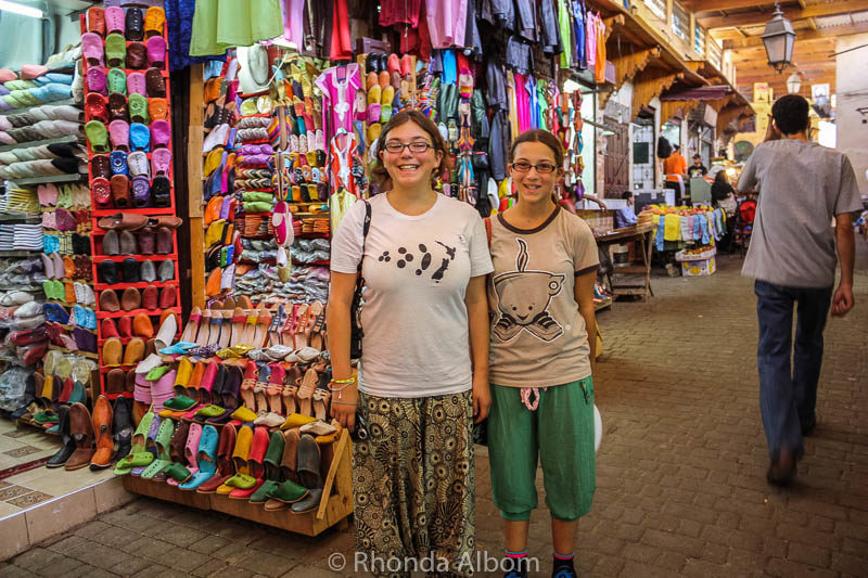 Souk in the old medina in Fes Morocco