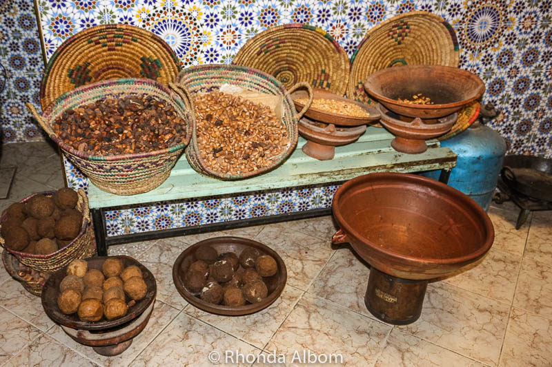 Making argon oil in the Medina in Taroudant, Morocco