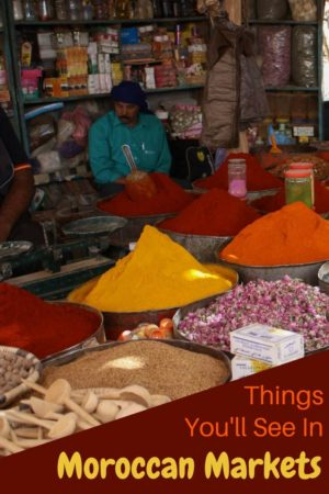 Fragrant and colourful, spices are one of my favouirte things at a traditional Moroccan Market. You would be surprised by some of the other things we discovered. Risanni Morocco