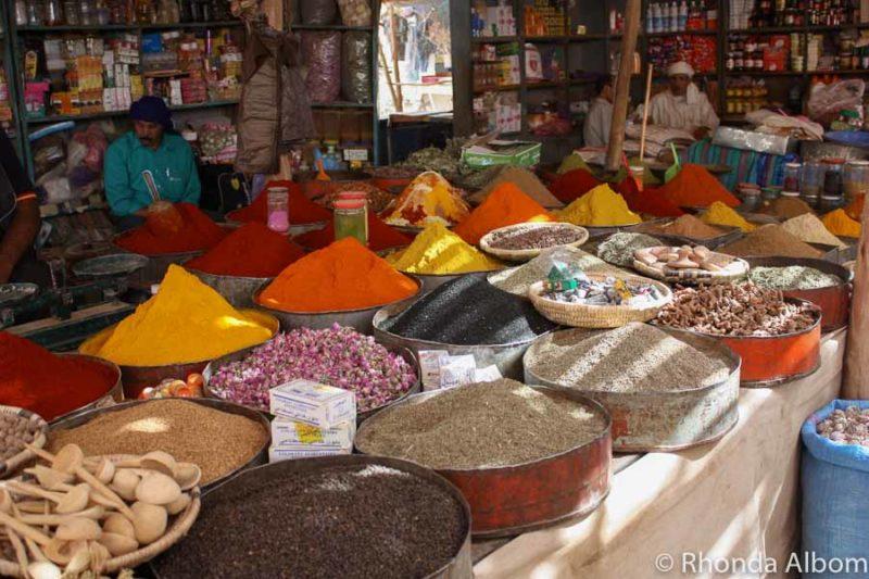 A spice market in Rissani Morocco