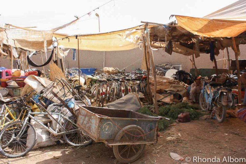 Bicycles at a market in Rissani Morocco