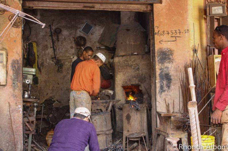 A market in Rissani Morocco
