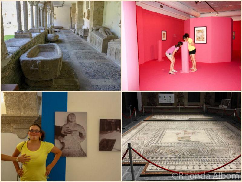 Inside the Provincial Museum of Lugo Spain