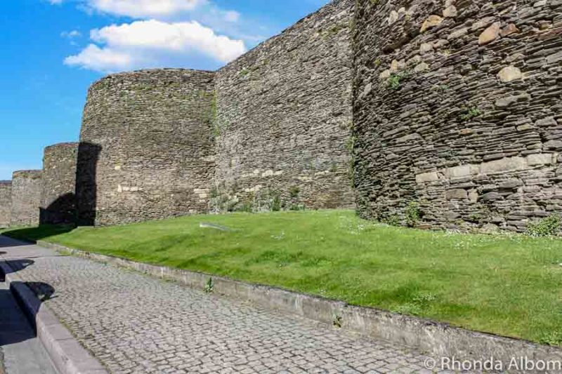 World's only fully intact Roman city wall in Lugo Spain