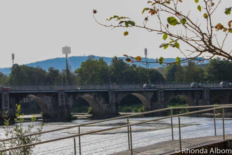 Roman Bridge near the Balneario Hotel in Lugo Spain