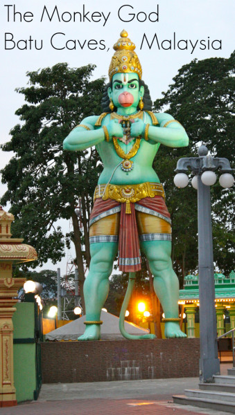 The Monkey God at Batu Caves, Malaysia. For more information visit Albom Adventures
