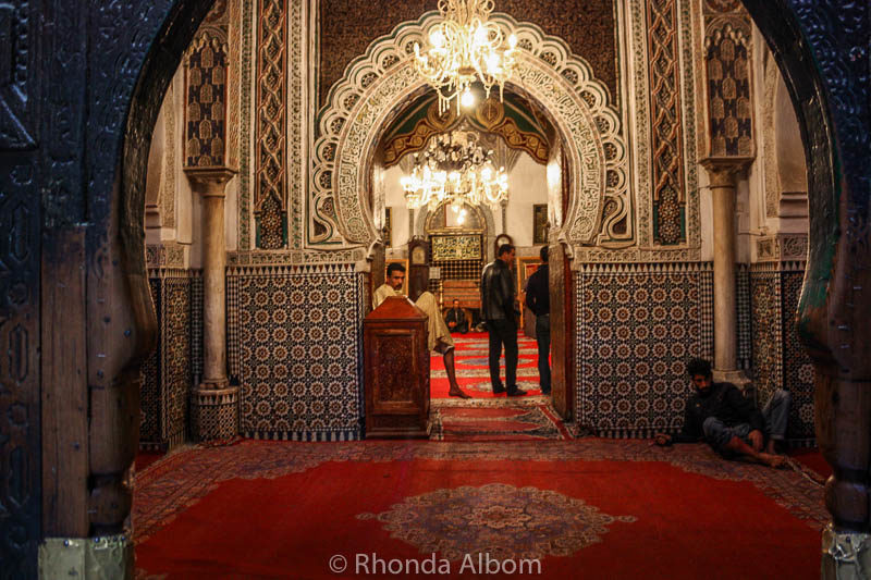 Looking into a Mosque in Fes Morocco