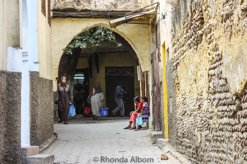 Local life in Meknes Morocco