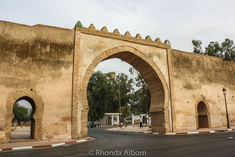 An open archway in the gate to the old city of Meknes Morocco