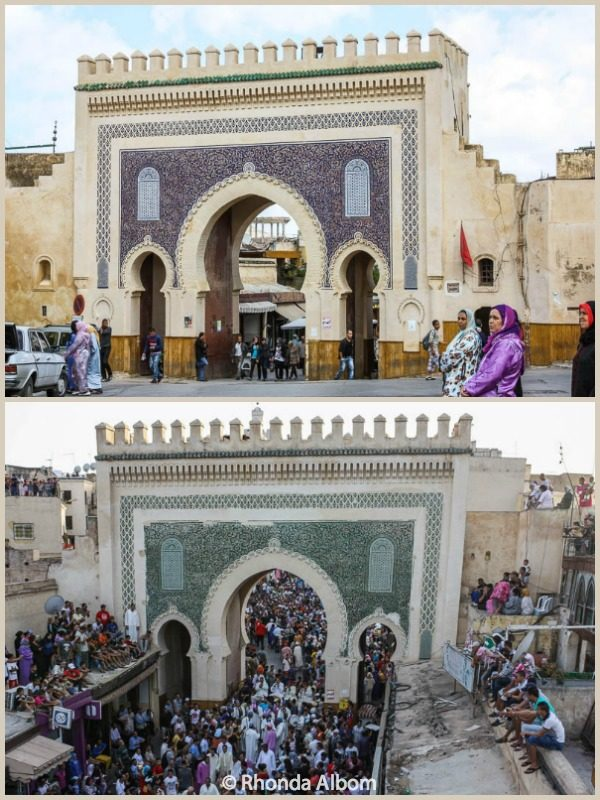The Blue Gate in Fes Morocco