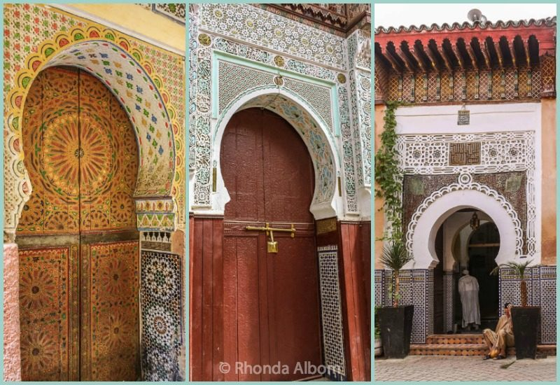 arched doorways and Moroccan doors