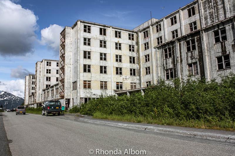 An abandon derelict building in Whittier Alaska