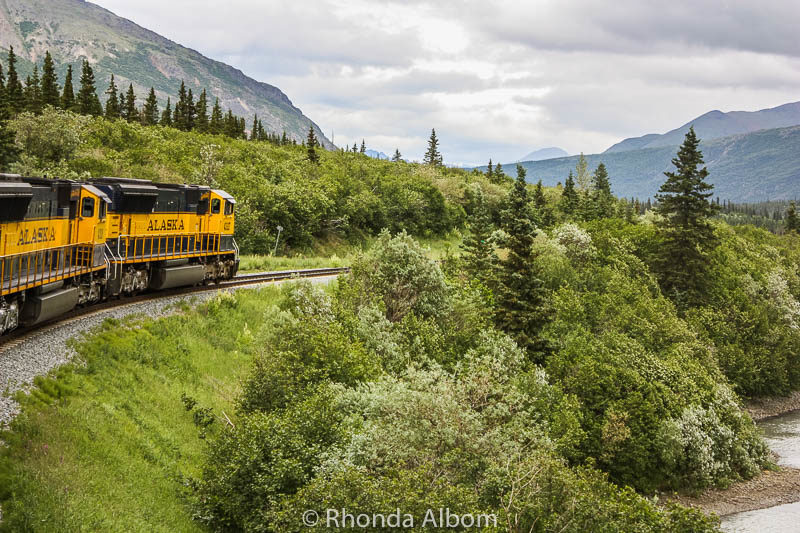 Denali Star train in Alaska