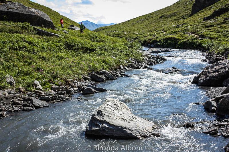 Savage River at mile 15 Denali National Park, Alaska