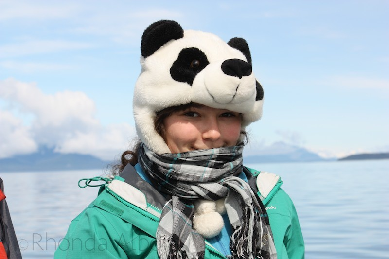 It was cold, even in the summer while Whale Watching in Hoonah Alaska