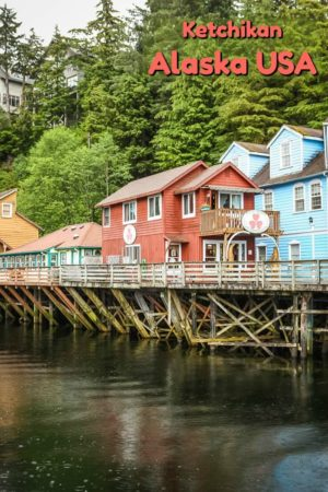 A visit to Creek Street is one of many things to do in Ketchikan Alaska