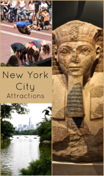 Attractions in New York City, including the Met, Night at the Museum, and Central Park. For more information visit the blog