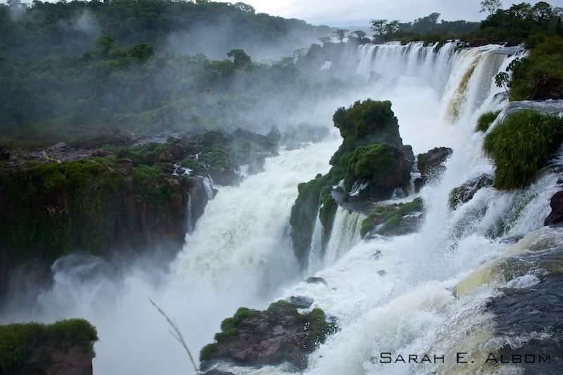 Salto Mbigua, Iguassu National Park, Misiones, Argentina. photo copyright Sarah E. Albom