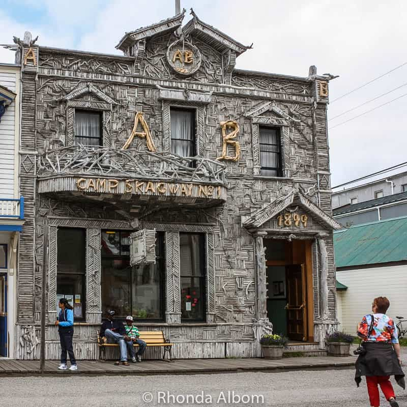 Skagway Visitor Center in the historic. Arctic Brotherhood Hall
