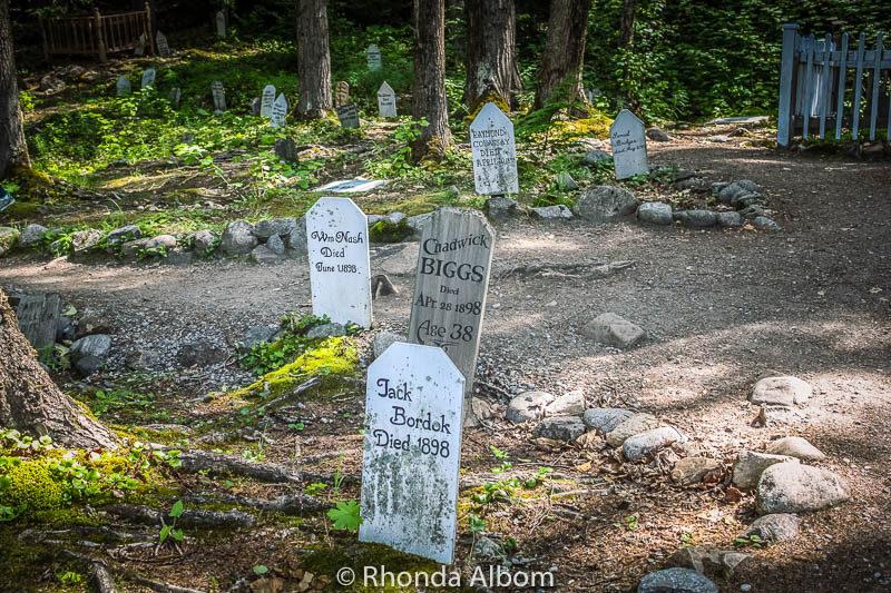 Gold Rush Cemetery in Skagway Alaska