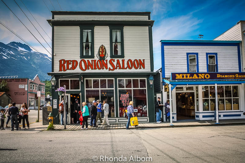 The Red Onion Saloon and Brothel, built in Skagway Alaska