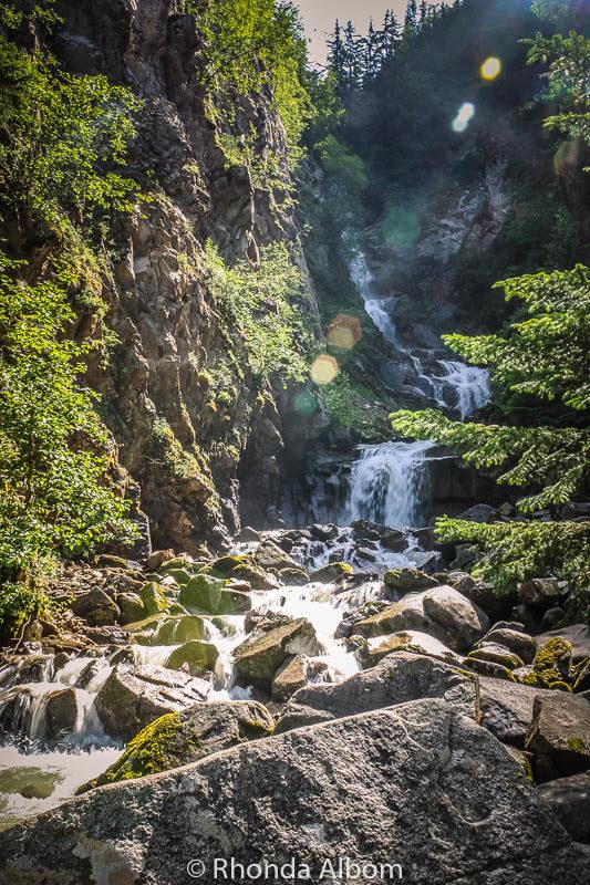 Ried Waterfall in Skagway Alaska