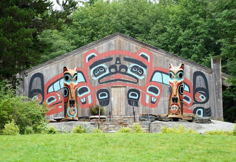 Getting off the ship and exploring places like this ketchikan Saxman Native Village is one of the best Alaska cruise tips.