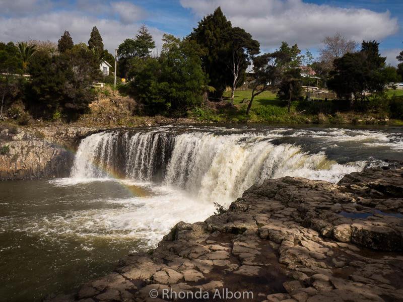 Haruru Falls in Bay of Islands, New Zealand