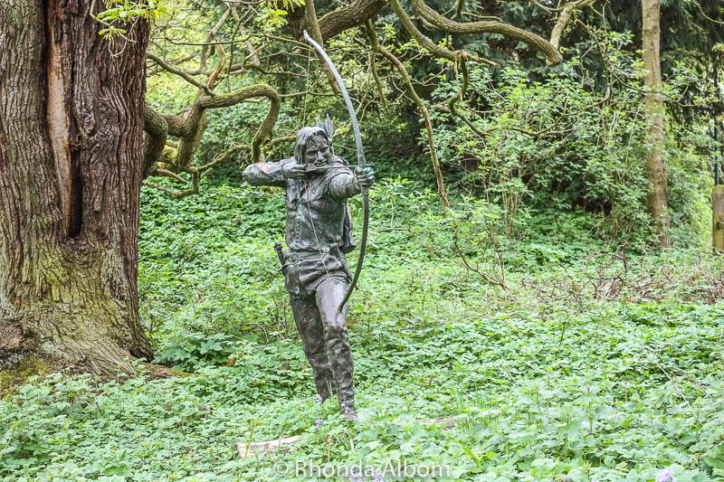 Statue of Robin Hood in the Sherwood Forest in England