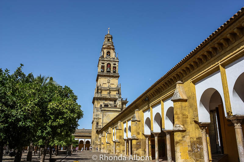 Exterior of La Mezquita in Cordoba Spain