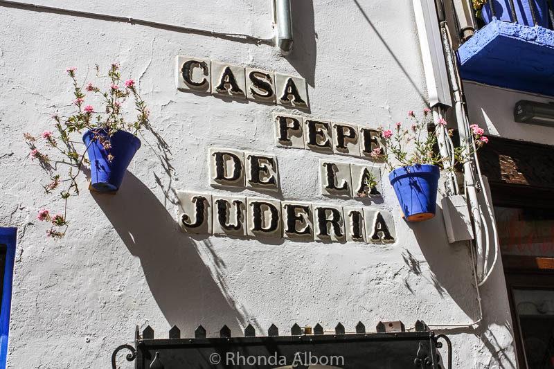 Juderia, medieval Jewish ghetto in Cordoba Spain