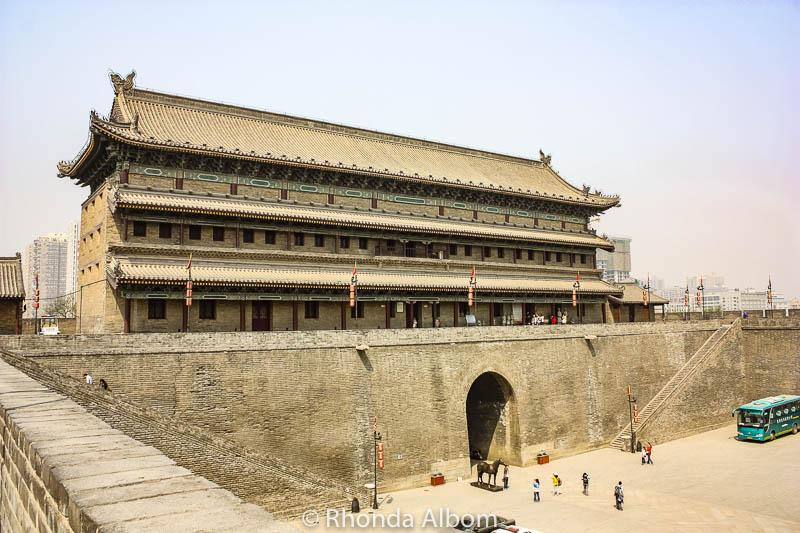 Ancient city wall of Xi'an China