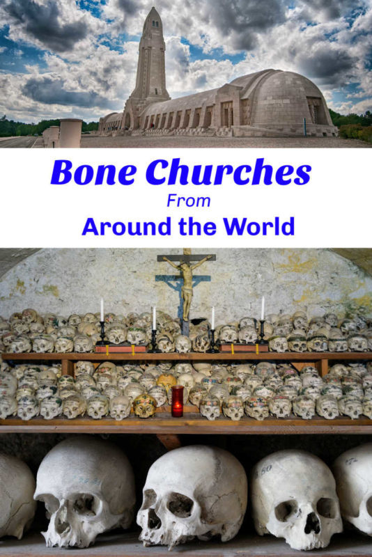 A collection of chapel of bones from around the world