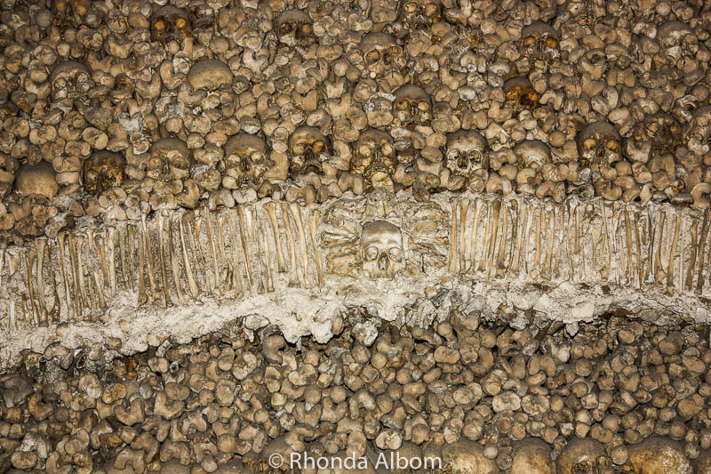 A closer look at the Chapel of Bones in Evora, Portugal