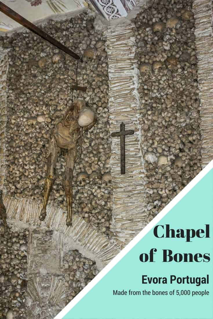 The Chapel of Bones in Evora Portugal is a freakish ossuary. This is one of a series of bizarre images in the article.
