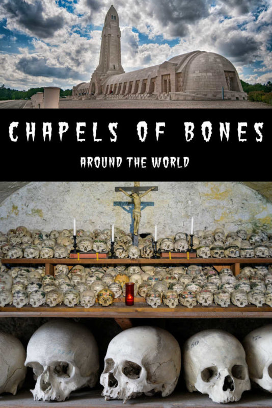 A collection of bone churches from around the world