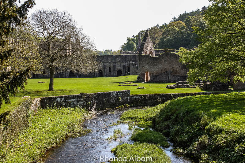 Fountains Abbey and Studley Royal in England