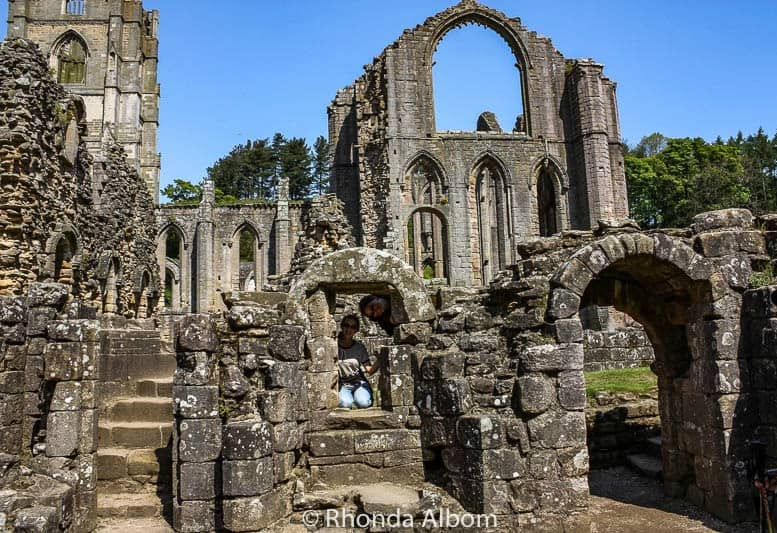 Exploring Fountains Abbey in Yorkshire, England
