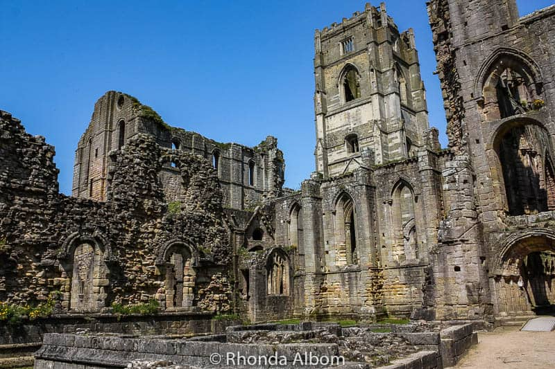 Fountains Abbey in Yorkshire, England