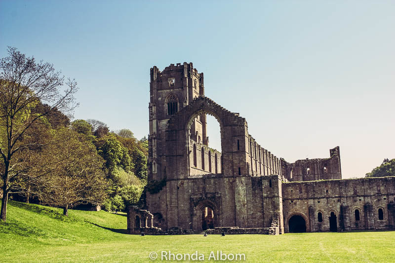 Fountains Abbey and Studley Royal in Yorkshire England