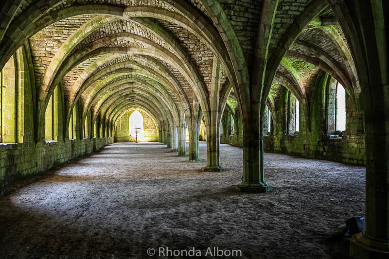 Once a magnificent dormitory at Fountains Abbey in Yorkshire