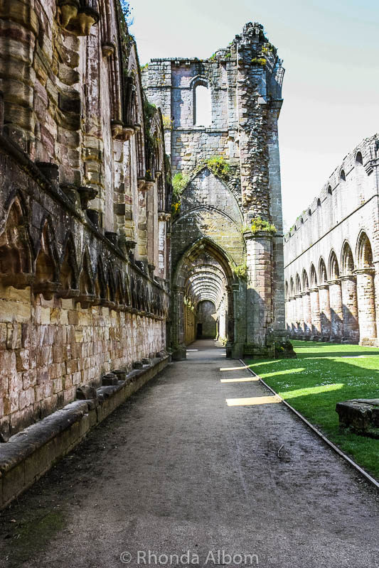 Walkway at Fountains Abbey in England