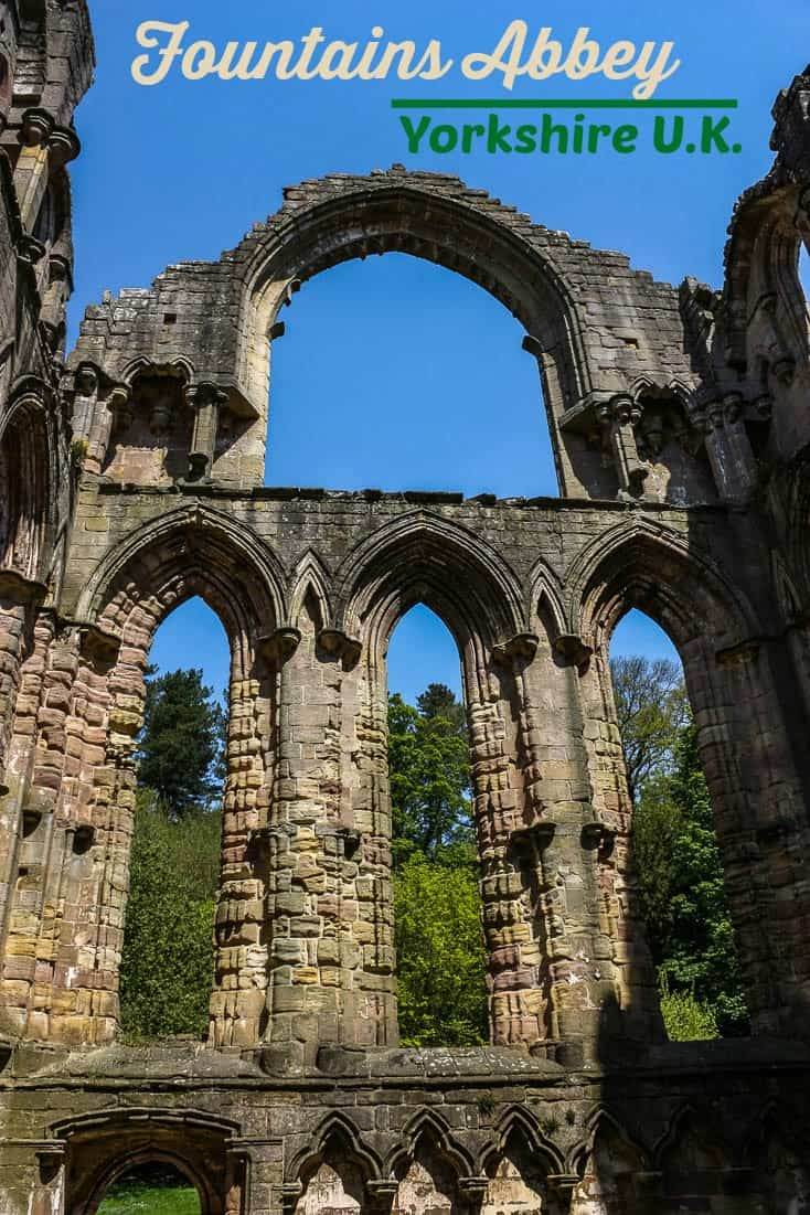 Fountains Abbey in Yorkshire, England UK