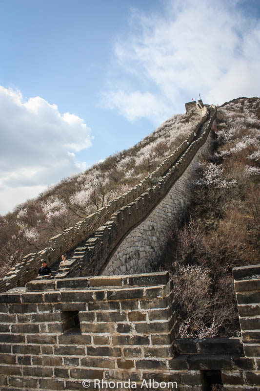 Steep portion of Mutianyu Section of the Great Wall of China