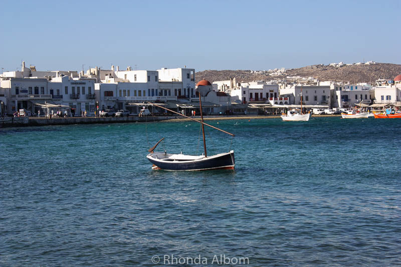 One of the first views as we walked from the Mykonos cruise port towards the town